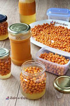 Cătină cu miere la borcan. Beneficiile consumului de cătină - Lecturi si Arome Health Snacks, Dental Health, Aloe Vera, Body Care, Health And Beauty, Vegetables, Food, Medicine, Preserve