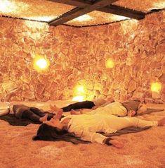 Downtown - Salt Cave Santa Barbara Spa and Yoga Salt Room Therapy, Himalayan Salt Cave, Home Room Design, House Design, Wellness Studio, Wellness Center, Crystal Room, Hot Tub Garden, Relaxation Room