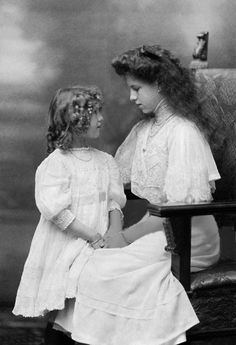 Princess Helen and Princess Irene of Greece. They were the daughters of Constantine I of Greece and his wife, Princess Sophia of Prussia