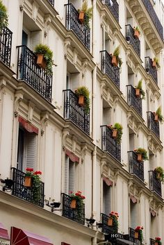 | ♕ | Balcony Gardens - Paris | by © mezzoblue