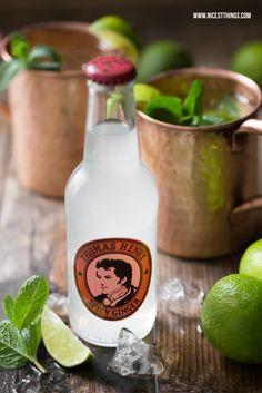 Rezept für den Cocktailklassiker Moscow Mule - stilecht im Kupferbecher