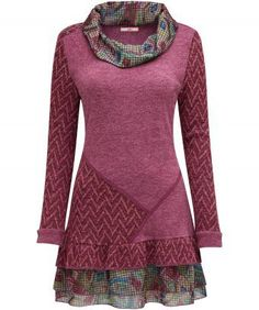 """Kick back in our casual Chill Out Tunic. With a cowl neck and frilled layered hem, throw it on for ready-made style thanks to the bold print and vibrant colour. Approx Length: 84cm Our model is: 5'7""""  Some customers have found this to be small fitting, you may therefore wish to consider ordering a different size."""