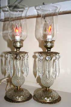 Vintage Candle Chandelier Lamps by reneecourt on Etsy, $72.00