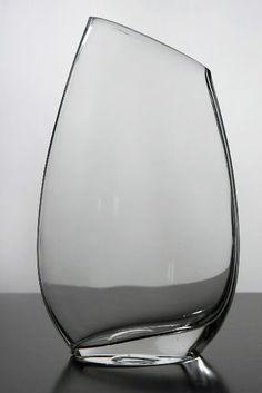 Slanted Rim Glass Vase 10 in.