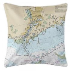 309 Best Nautical Chart Pillows Map Pillows Nautical Pillow images