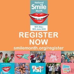 Are you keen to take part in National Smile Month or would just like to learn more about the campaign? Simply register your details and find out more! Learn more: http://www.nationalsmilemonth.org/register/ #Register #NSM15 #NationalSmileMonth #OralHealth