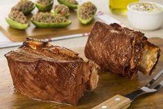 Churrasco de costela com abobrinhas recheadas por Academia da carne Friboi