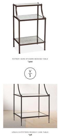 @potterybarn Etagere Bedside Table $499 Vs @urbanoutfitters Regency Side Table $98