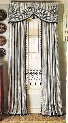 Window Treatment - Wonderful Classic Treatment! The fabric, trim & style all work perfectly together