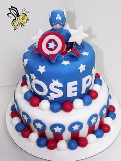 Avengers Cake Cupcake Ideas Captain america cake Capt america