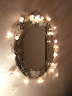 Fairy lights mirror by andrea