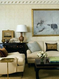 the best sofa to buy | laurel bern's #1 pick! | decorating help in NY | ming Chinoiserie coffee table with the perfect sofa. Well, perfect everything | interior design by Phoebe Howard