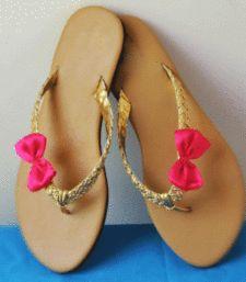 Buy Brown plain satin footwear footwear online
