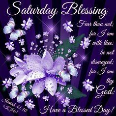Saturday Blessing. Isaiah 41:10