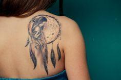 Dream Catcher Shoulder Tattoo Design