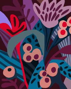 Ophelia Pang: illustrations and paintings Textures Patterns, Print Patterns, Motifs Textiles, Stoff Design, Motif Floral, Pattern Illustration, Floral Illustrations, Surface Pattern Design, Oeuvre D'art