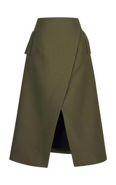 Wrap-Effect Midi Skirt by Josh Goot - Moda Operandi