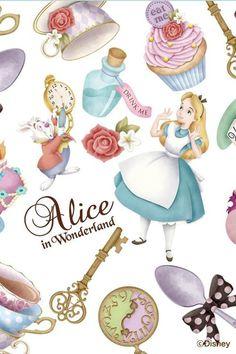 Disney Alice in wonderland iPhone wallpaper Her Wallpaper, Disney Wallpaper, Iphone Wallpaper, Arte Disney, Disney Magic, Disney Art, Alice In Wonderland Party, Adventures In Wonderland, Alice In Wonderland Background