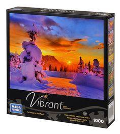 Fire Sunset over Mt. Rainier 1000 piece #jigsaw #puzzle Mega Puzzles Vibrant series