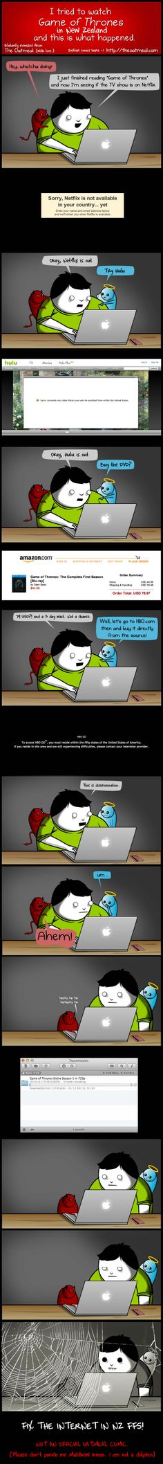 the oatmeal remix (applies to us in CZ as well. just the waiting would be probably even longer - and torrents are slightly faster).