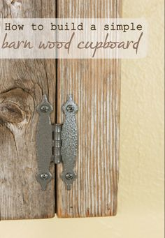 How to build a simple cupboard #DIY