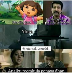 Tamil Funny Memes, Tamil Comedy Memes, Funny Marvel Memes, Funny Jokes, Hilarious, Crazy Girl Quotes, Crazy Girls, Ideas For Instagram Photos, Funny Mems