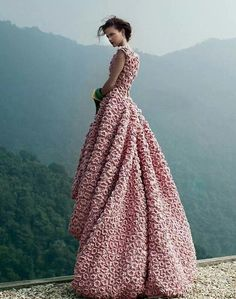 Crocheted Gown by Ly Quy Kanh Via...Jung Hwa Yoo