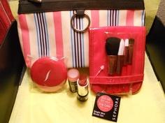 Lancome Makeup Bag With Sephora Brush set & MORE! (FREE SHIPPING) $25