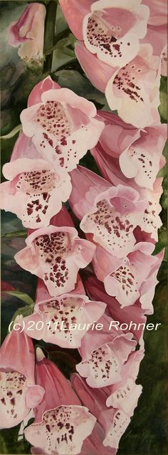 Watercolor Painting Botanical Garden Flower by BetweenTheWeeds,