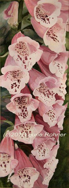 Watercolor Painting Botanical Garden Flower by BetweenTheWeeds,
