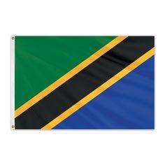 Tanzania Outdoor Nylon Flag #FlagCo #OutdoorFlag #Tanzania