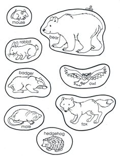 The Mitten Animals Free Printable