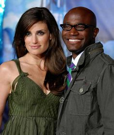 Taye Diggs with wife Indina Mendel- a beautiful couple. [favorite couple]