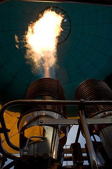 Hot air balloon - Burners vary in power output; each will generally produce 2 to 3 MW of heat (7 to 10 million BTUs per hour), with double, triple, or quadruple burner configurations installed where more power is needed