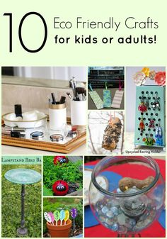 Want to tread a little bit lighter on the earth and reduce your carbon footprint? Get creative with these eco friendly craft projects for kids and adults!