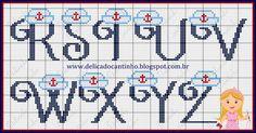 Boa tarde!  Um presentinho para vocês...  Um monograma completo com o tema marinheiros.  Bons bordados.                                     ...