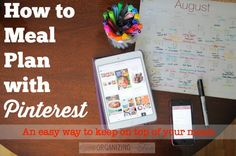 How I Meal Plan with Pinterest