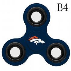 N009 Denver Broncos (Blue Grey Orange) Fidget Spinner