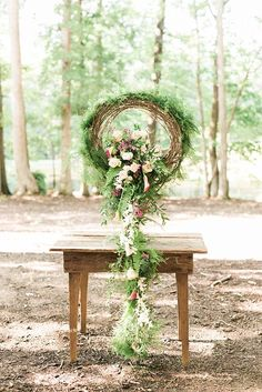 Rustic wedding ceremony decor / http://www.deerpearlflowers.com/country-rustic-wedding-ideas-and-themes/