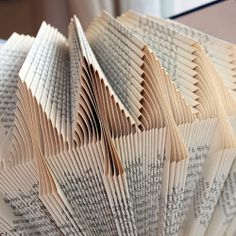 Fold a little, pleat a little. Respect old books by turning them into eye-popping art!