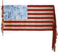 """Art textile, Lenore Tawney, """"Untitled"""", 1974. (woven flag) by Knoxville Museum of Art, via Flickr"""