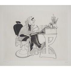 Al Hirschfeld - Self Portrait