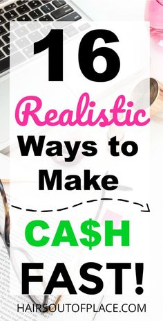 16 Realistic ways to earn cash fast when you need it! Both community ideas and how to make money online options are included. Make money online today to save for fun extras like travel, to pay for things your family just can't afford to save for emergenies. #makemoneyonline #money #cash #onlinebusiness