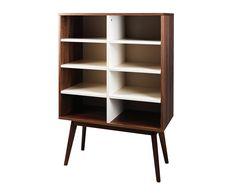 Mueble estantería en madera - marrón y blanco | Westwing Home & Living