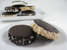 Skinny Mini Ice Cream Sandwiches, Yum with Weight Watchers Points | Skinny Kitchen