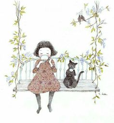 Illustrations of people Illustration Mignonne, Art Et Illustration, Art Fantaisiste, Belle And Boo, Art Mignon, Buch Design, Korean Artist, Cute Images, Whimsical Art