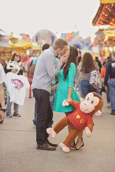 Super sweet carnival kiss by Julia Laible Photography