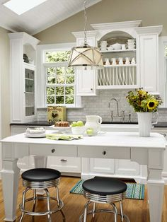 Vaulted Kitchen Ceiling for this Dream Seaside House remodel