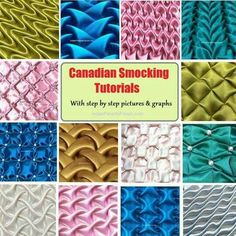 Smocking Tutorials With Step By Step Instructions Canadian smocking is beautiful art of fabric manipulation. Here are my easy tutorials, graphs & tips that will help you create beautiful cushion coversCanadas Canadas may refer to: Textile Manipulation, Fabric Manipulation Techniques, Fabric Manipulation Tutorial, Smocking Tutorial, Smocking Patterns, Fabric Crafts, Sewing Crafts, Sewing Projects, Techniques Couture