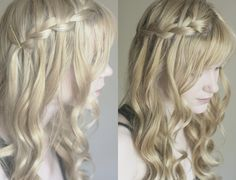Hairstyle Tutorial: The Waterfall Braid